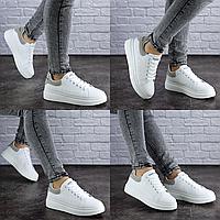 Женские кроссовки летние белые Andy 1965 Размер 39 - 24,5 см по стельке, обувь женская