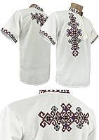 """Летняя мужская вышиванка в крупных размерах с вышивкой на спине """"Фламинго"""", фото 1"""