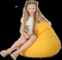 Кресло-мешок Груша Хатка средняя Желтая (подростковая)