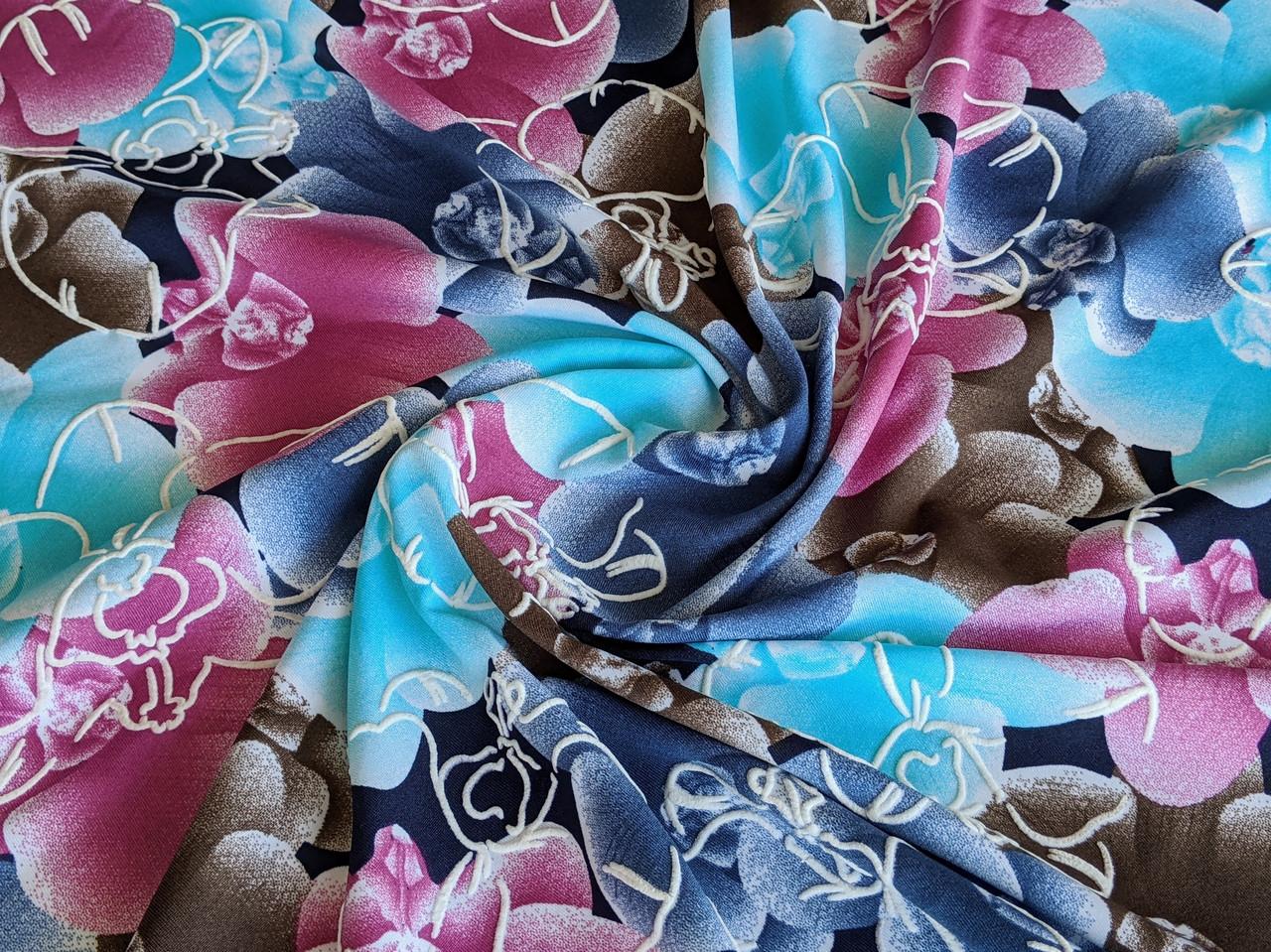 Масло лакр цветочная фактура, розово-голубой