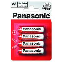 Батарейка PANASONIC солевая R6, 4шт.