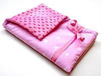 Плед для новорожденного Розовый