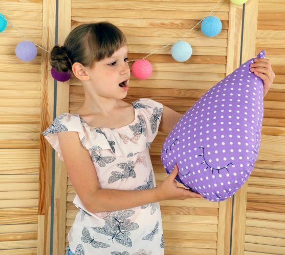 Подушка Хатка Капля Фиолетовая