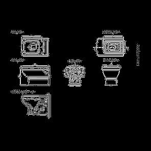 Унітаз підвісний з кришкою soft-close 3020127 RETRO, фото 2