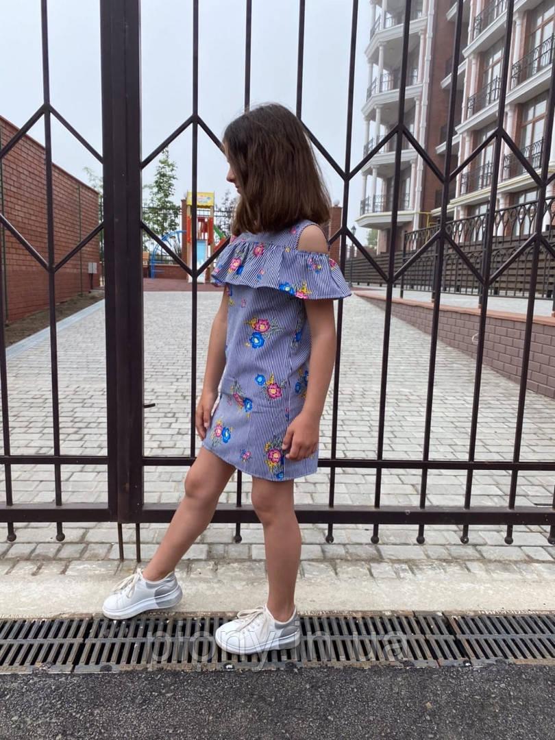 Детское Платье с воланом принт