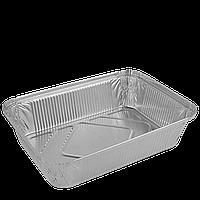 Контейнер из алюминиевой фольги. ПРЯМОУГОЛЬНЫЙ  2000мл, 255х185х53(R88L). Упаковка 50шт, (1ящ/10уп/500шт), фото 1