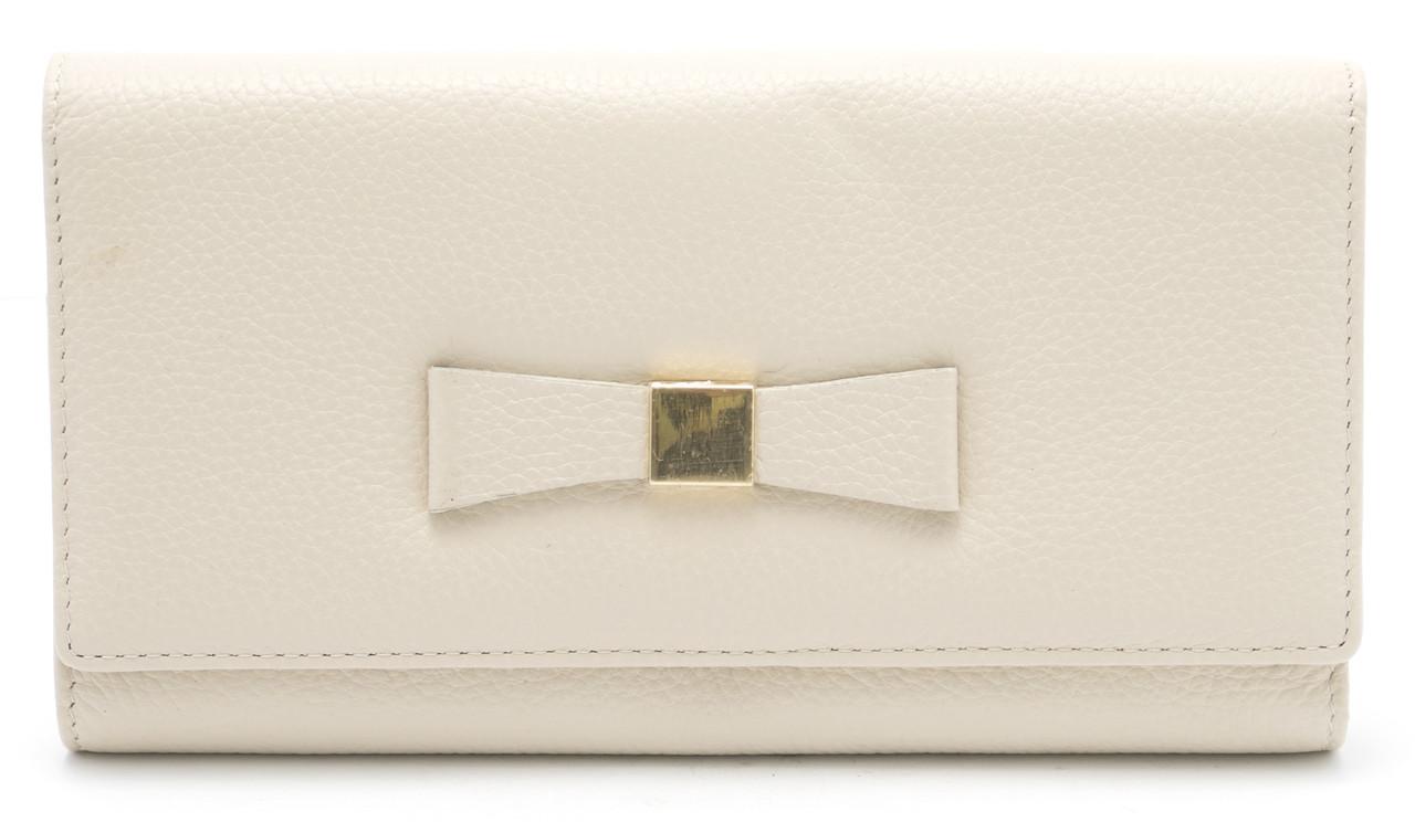 Стильный кожаный женский кошелек с бантом SALFEITE art. 12235