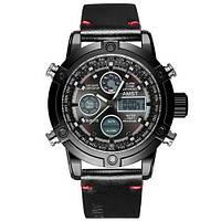 Мужские часы AMST 3022 Silver-Black Fluted Wristband