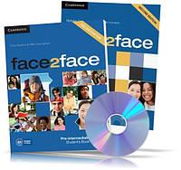 Face2face Pre-Intermediate, Student's + DVD + Workbook / Учебник + Тетрадь (комплект) английского языка