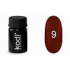 Kodi гель краска 4 мл, № 9 (глубокий красный с шиммером)
