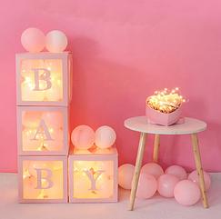 Коробки BABY розовая для фотозоны
