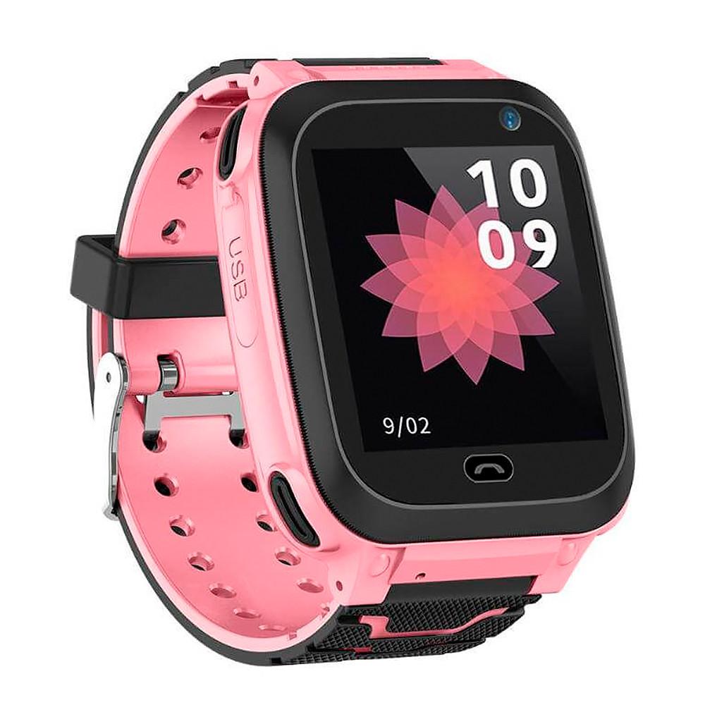 Детские смарт часы F3 для девочки, наручные, розовые (GS00F3P)