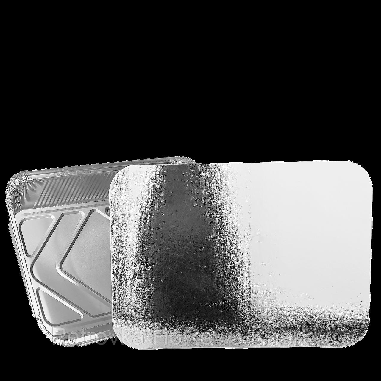 Крышка из Алюминиевой фольги и Картона к контейнеру прямоугольному алюм. 3000мл (SP98L). Упаковка 50 шт