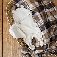 Универсальный махровый спальник, молочный, 6-12 мес