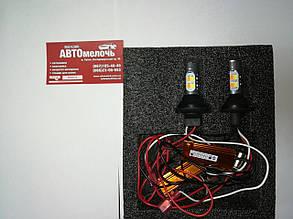 Лампа LED 12V поворотов с функциейю ДХО (оранжевый, белый свет)