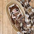 Універсальний махровий спальник, коричневий, 6-12 міс., фото 9