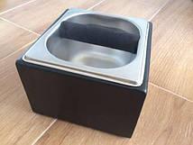 Нок-бокс для отработанного кофе деревянный | c емкостью из нержавеющей стали |темно-коричневый |1.6л