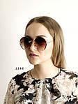Трендовые круглые солнцезащитные очки  коричневые, фото 3