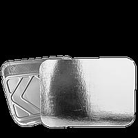 Крышка из Алюминиевой фольги и Картона (SP15L) к прямоугольному алюм. контейнеру 255мл. Упаковка 100 шт, фото 1
