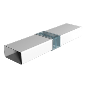 Воздуховод прямоугольный Эра ABS-пластик 55 х 110 мм х 1.5 м (60-158), фото 2