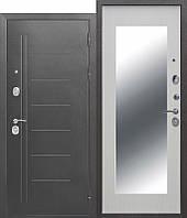 Входная дверь Троя 110 мм Серебро/Белый ясень MAXI зеркало