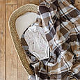 Бодик - пеленка на молнии Бежевый меланж 0-3 мес. (62), фото 3