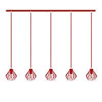 Подвесной  светильник, индустриальный стиль стиль, loft, vintage SKRAB-5 Е27  красный