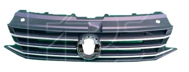 Решетка радиатора VW Polo '15- седан с хром молдингами (FPS) 6RU853651D
