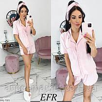 Пижама женская (рубашка+шорты+повязка) Новинка 2020