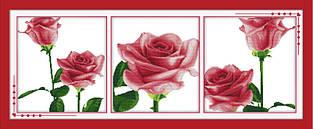 Набор для вышивания крестиком NKF Триптих Воспоминания в розах H190 14ст
