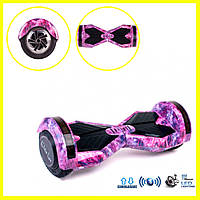 Гироборд Smart Balance Wheel Pro фиолетовый космос гироскутер 8 дюймов с самобалансом Tao Tao и музыкой