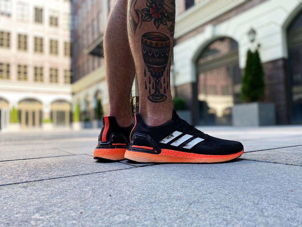 Кроссовки мужские Adidas UltraBoost PB Black Orange / EG0427 (Размеры:41,42,44,45)