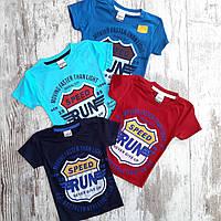 """Детская футболка для мальчика """"Run"""" 1-4 года, цвет уточняйте при заказе"""