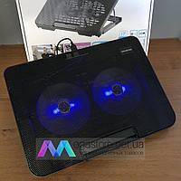 Охлаждающая подставка для ноутбука N99 регулируемая с подсветкой охладитель вентилятором USB