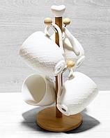 Чайный набор Naturel 289-277  чашки 4шт*340мл