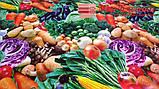 """Клеенка ПВХ на основе """"Овощи"""" ширина 135 см, фото 2"""