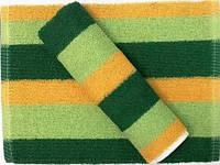 Полотенце кухонное махровое зеленое с желтым, Полотенце кухонное Яркие, Полотенце махровое 30х50