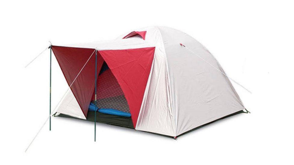 Палатка 3-х местная с тентом и тамбуром SY-014 (р-р 2х2х1,35м, PL)