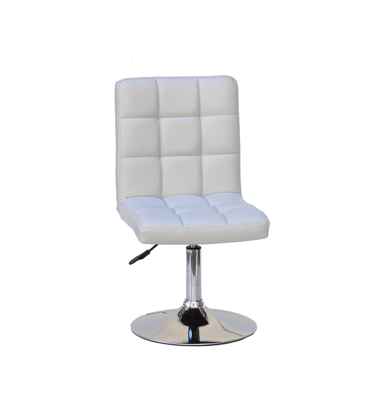 Кресло Augusto (Августо) CH-BASE светло- серая экокожа на блине