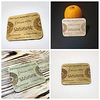 Деревянные бирки, ярлыки, этикетки, жетоны, номерки, шильды. Изготовление визиток из дерева.
