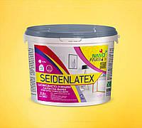 Интерьерная шелковисто-глянцевая латексная краска Seidenlatex Nanofarb 2.5 л