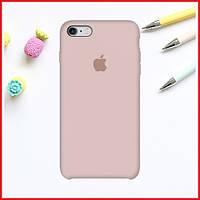 Пудровый силиконовый чехол на iPhone 6/6S