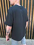 Футболка мужская оверсайз графит с карманом, фото 5
