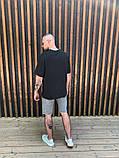 Футболка мужская оверсайз графит с карманом, фото 4