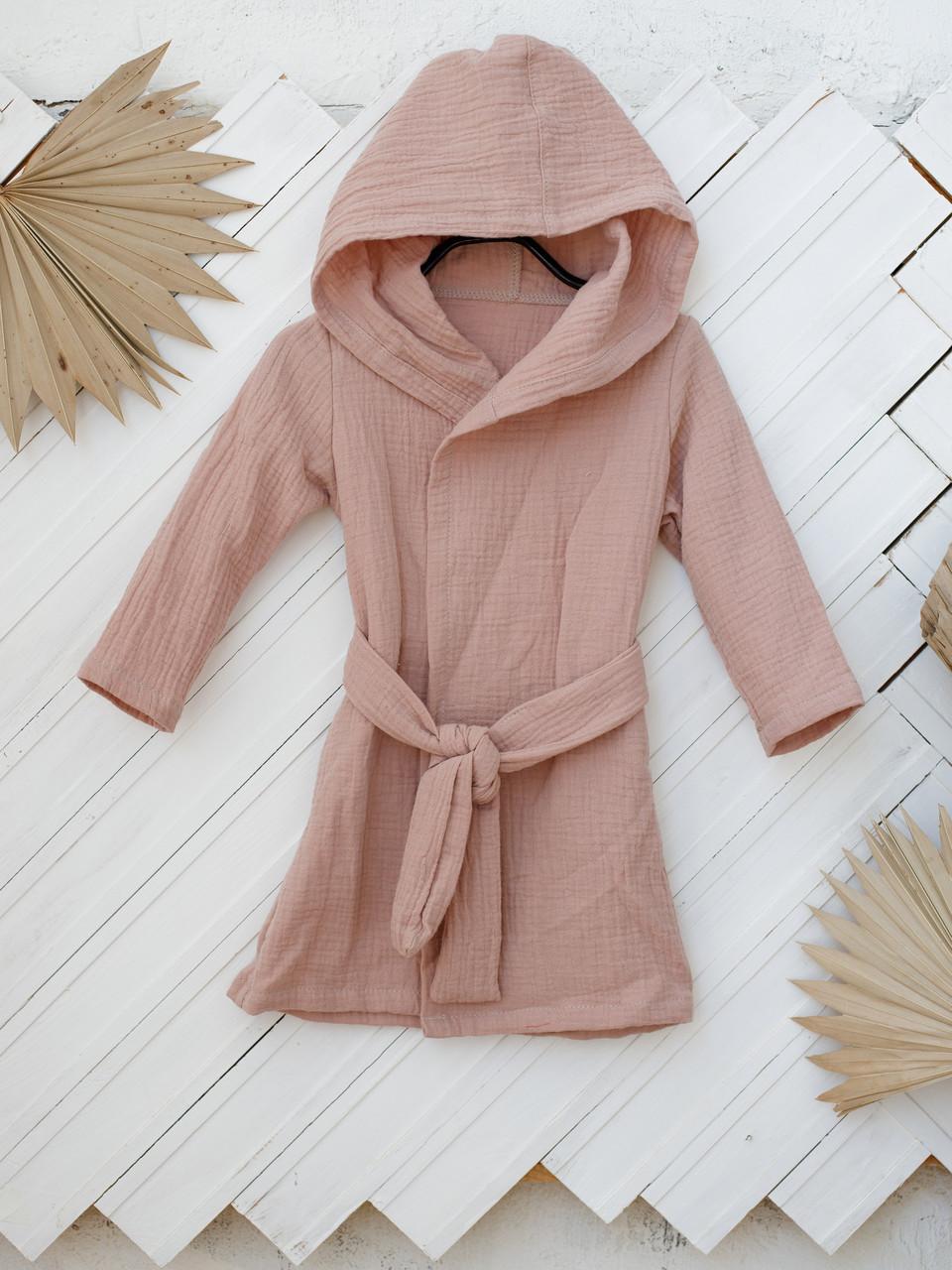 Муслиновый халат Soft, капучіно 98 (3 роки)