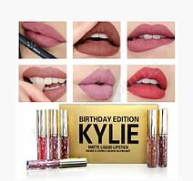 Набор жидких матовых помад Kylie Birthday Edition Gold 6 оттенков