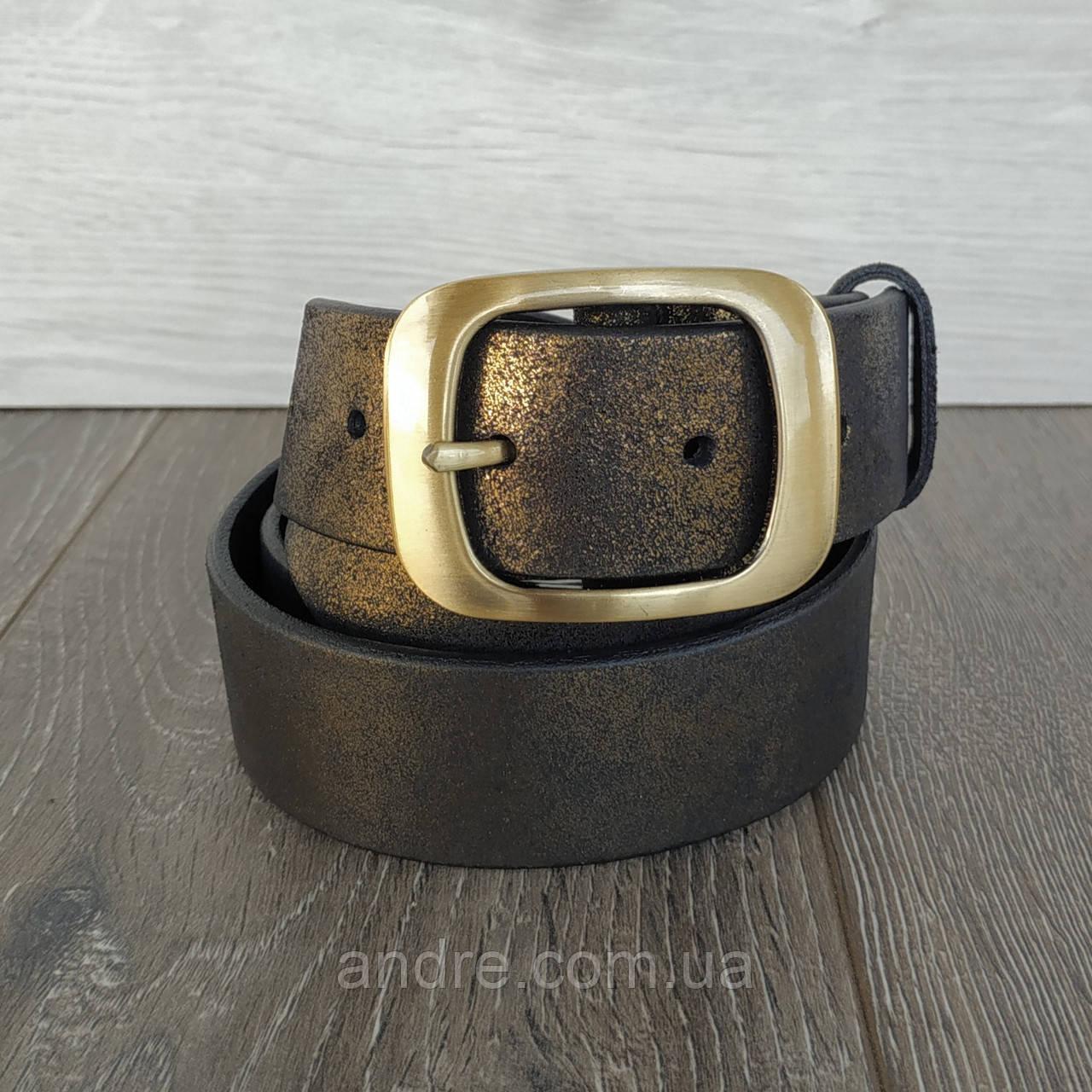 Ремень женский кожаный бронзовый 3,5см