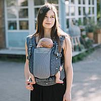 Эрг рюкзак для новорожденных ONE + Cool с сеточкой на спинке Love & Carry Рюкзак для переноски детей Пташки