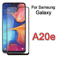 Защитное стекло с рамкой для Samsung Galaxy A20e