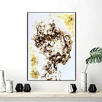 """Картина из янтаря на холсте """" Девушка """" 30x40 см"""